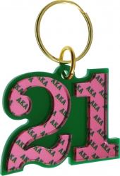 View Buying Options For The Alpha Kappa Alpha Color Mirror Line #21 Keychain
