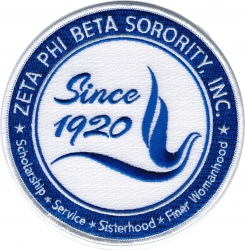 View Buying Options For The Zeta Phi Beta Crest Round Iron-On Patch