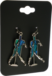View Buying Options For The Elvis Presley Silhouette Aqua Earrings