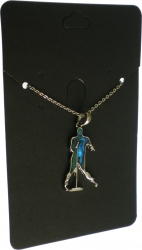 View Buying Options For The Elvis Presley Silhouette Aqua Pendant Necklace