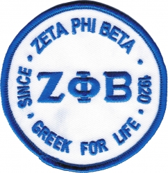 View Buying Options For The Zeta Phi Beta Greek for Life Round Iron-On Patch