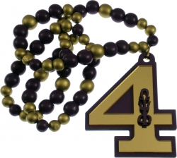 View Buying Options For The Omega Psi Phi Line #4 Mirror Wood Color Bead Tiki Necklace