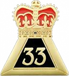 View Buying Options For The 33rd Degree Crown Lapel Pin