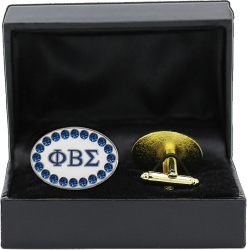 View Buying Options For The Phi Beta Sigma Oval Crystal Mens Cuff Links