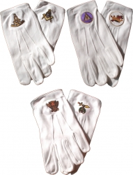 View Buying Options For The Masonic Emblem Ritual Gloves
