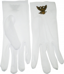 View Buying Options For The Scottish Rite 32nd Degree Wings Up Emblem Ritual Gloves