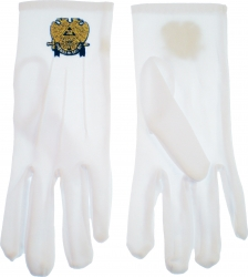View Buying Options For The Scottish Rite 32nd Degree Wings Down Emblem Ritual Gloves