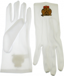 View Buying Options For The 33rd Degree Wings Down Emblem Ritual Gloves