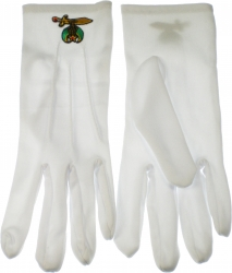View Buying Options For The Shriner Emblem Ritual Gloves