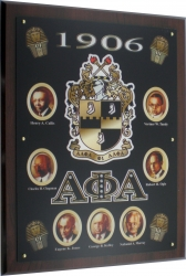 View Buying Options For The Alpha Phi Alpha Founders Acrylic Topped Wooden Wall Plaque