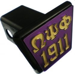 View Buying Options For The Omega Psi Phi 1911 Trailer Hitch Cover