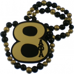 View Buying Options For The Alpha Phi Alpha Line #8 Mirror Wood Color Bead Tiki Necklace