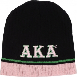 View Buying Options For The Alpha Kappa Alpha Striped Short Beanie Cap