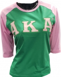 View Buying Options For The Alpha Kappa Alpha Applique Ladies Baseball Tee