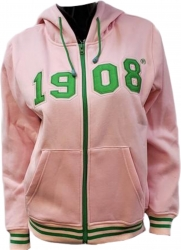 View Buying Options For The Alpha Kappa Alpha 1908 Applique Zip-Up Ladies Hoodie