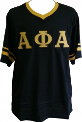 View Buying Options For The Alpha Phi Alpha Striped V-Neck Mens Tee