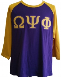 View Buying Options For The Omega Psi Phi Applique Mens Baseball Tee