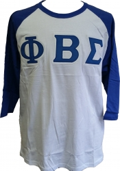 View Buying Options For The Phi Beta Sigma Applique Mens Baseball Tee