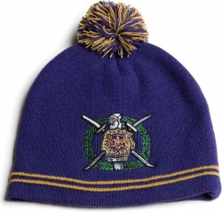 View Buying Options For The Omega Psi Phi Fraternity Knit Beanie with Pompom