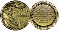 View Buying Options For The Psalms 23:4 Walk in the Midst of Trouble Spirit Challenge Coin