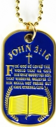 View Buying Options For The John 3:16 Prayer Dog Tag