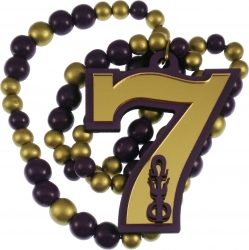 View Buying Options For The Omega Psi Phi Line #7 Mirror Wood Color Bead Tiki Necklace