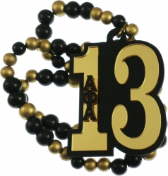 View Buying Options For The Alpha Phi Alpha Line #13 Mirror Wood Color Bead Tiki Necklace