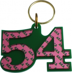 View Buying Options For The Alpha Kappa Alpha Color Mirror Line #54 Keychain