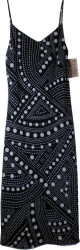 View Buying Options For The Lapis Dots Long Dress