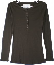 View Buying Options For The Active Basic Junior Womens 8-Button Thermal Top