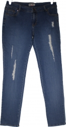 View Buying Options For The Golden Deer Womens Destructed Denim Jeans