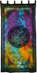 View Buying Options For The Celtic Knot In Tie Dye Window Curtain