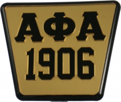 View Buying Options For The Alpha Phi Alpha 1906 Trailer Hitch Cover