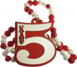 View Buying Options For The Kappa Alpha Psi Line #5 Mirror Wood Color Bead Tiki Necklace