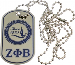 View Buying Options For The Zeta Phi Beta Epoxy Coated Double Sided Dog Tag