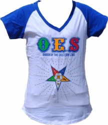 View Buying Options For The Eastern Star Rhinestone Divine Ladies Tee