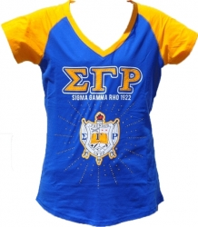 View Buying Options For The Sigma Gamma Rho Rhinestone Divine 9 Ladies Tee