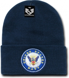 View Buying Options For The RapDom Navy Emblem Military Long Cuff Mens Beanie