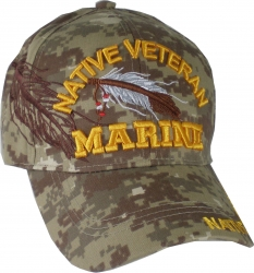 View Buying Options For The Native American Marine Veteran Shadow Mens Cap