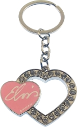 View Buying Options For The Elvis Presley Pink Heart Rhinestone Keyring