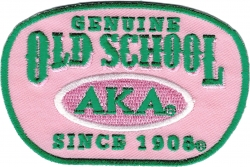 View Buying Options For The Alpha Kappa Alpha Genuine Old School Satin Iron-On Patch