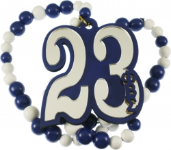View Buying Options For The Phi Beta Sigma Line #23 Mirror Wood Color Bead Tiki Necklace