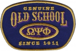 View Buying Options For The Omega Psi Phi Genuine Old School Satin Iron-On Patch