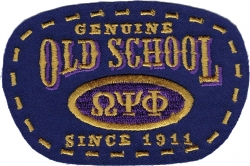 View Buying Options For The Omega Psi Phi Old School Scissor Cut Iron-On Patch
