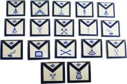 View Buying Options For The Masonic Apron Lodge Officer Lapel Pin Set [Pre-Pack]