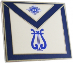 View Buying Options For The Masonic Organist Apron Lodge Officer Lapel Pin