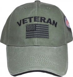 View Buying Options For The Veteran w/American Flag Tonal Washed Mens Cap