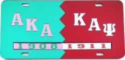 View Buying Options For The Alpha Kappa Alpha + Kappa Alpha Psi Split Mirror License Plate