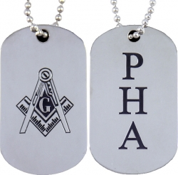 View Buying Options For The Prince Hall Mason Double Sided Dog Tag