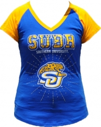 View Buying Options For The Southern Jaguars Rhinestone Ladies Tee
